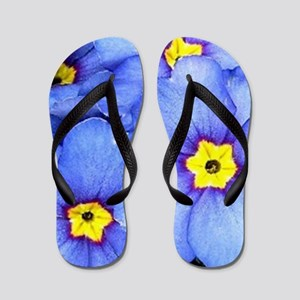 Blue Wildflowers Flip Flops